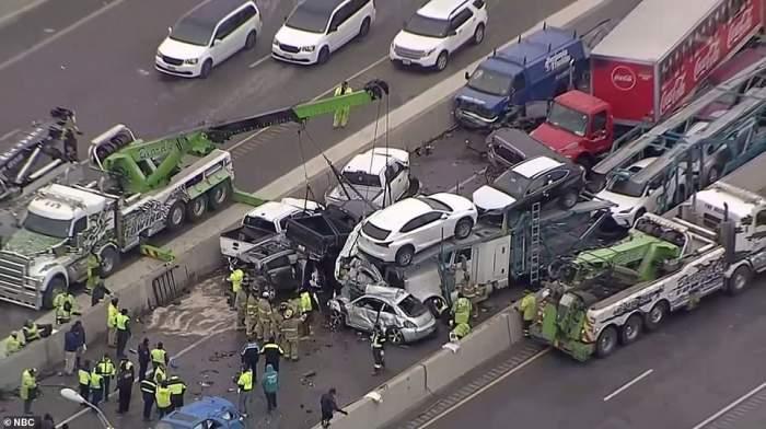 Accident teribil pe o autostradă din Texas