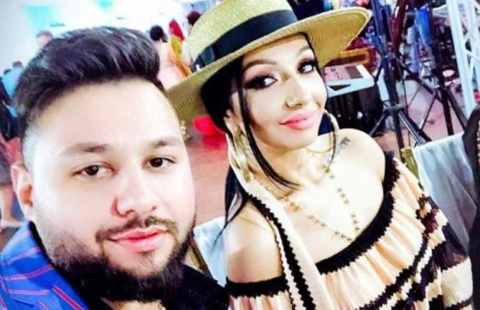 Narcisa Moisa și Yoannes într-un selfie. El poartă cămașă albastră, iar ea rochie și pălărie crem.