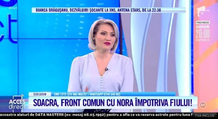 """Acces Direct. Mirela Vaida, în lacrimi, în fața telespectatorilor! Ce a făcut-o să nu-și mai poată controla emoțiile: """"Mi s-a rupt sufletul"""" / VIDEO"""