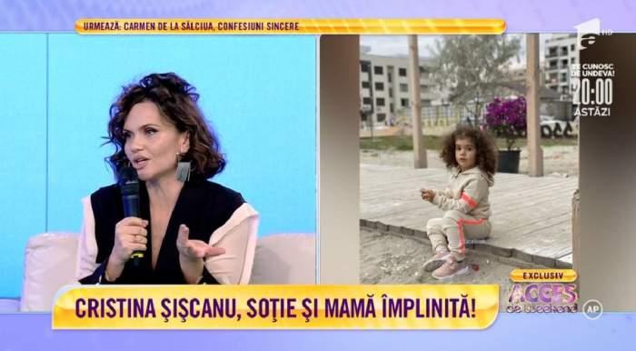 Acces Direct. Cristina Șișcanu, pregătită să devină din nou mamă! Cum a început povestea de iubire dintre ea și Mădălin Ionescu! / VIDEO