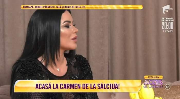 Acces Direct. Carmen de la Sălciua, adevărul despre relația pe care a avut-o după divorț! Cum se înțelege artista acum cu fostul soț