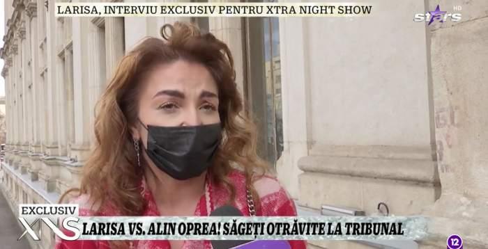 Prima reacție a Larisei, după întâlnirea de la tribunal cu Alin Oprea! Ce mai are să îi reproșeze soțului său / VIDEO