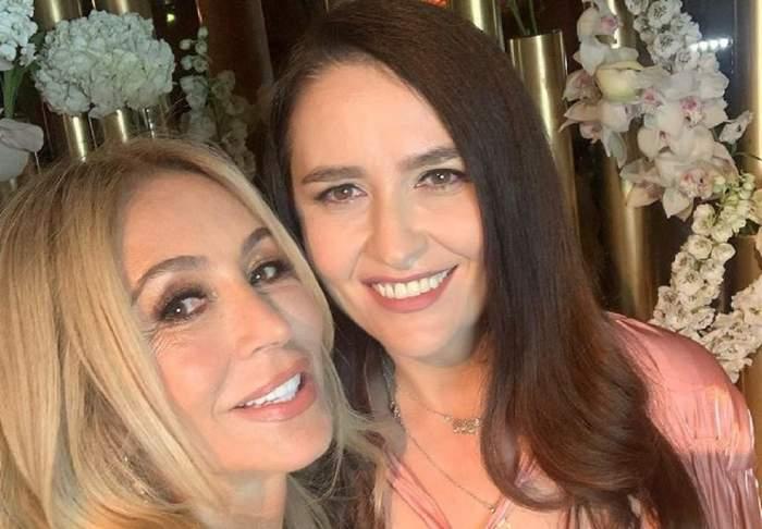 Amalia Năstase și Anastasia Soare într-un selfie. Fosta soție a lui Ilie Năstase poartă o rochie roz.