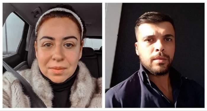 Un colaj cu Oana Roman și Marius Elisei. Ea se află în mașină și poartă o haină de blană gri, iar el poartă o cămașă neagră.