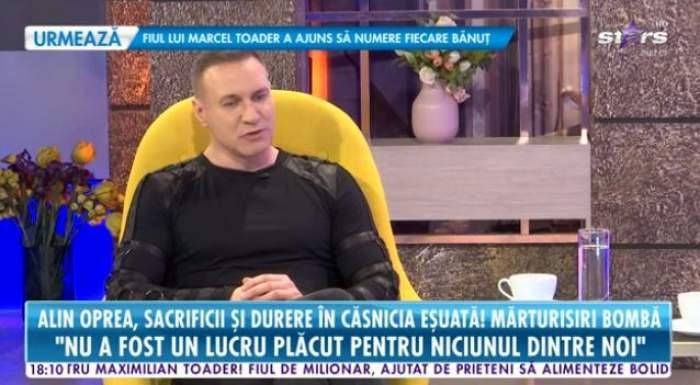 Alin Oprea, în ținută neagră la Antena Stars