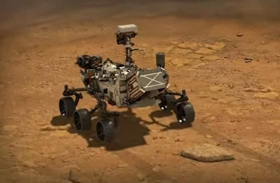 roverul Perseverance pe Marte.