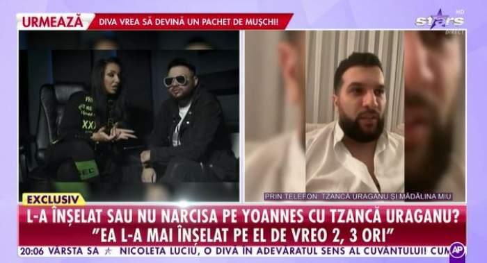 Captură cu Tzancă Uraganu la Showbiz Report.