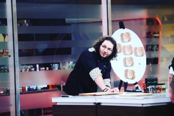 Florin Dumitrescu în bucătăria Chefi la cuțite.