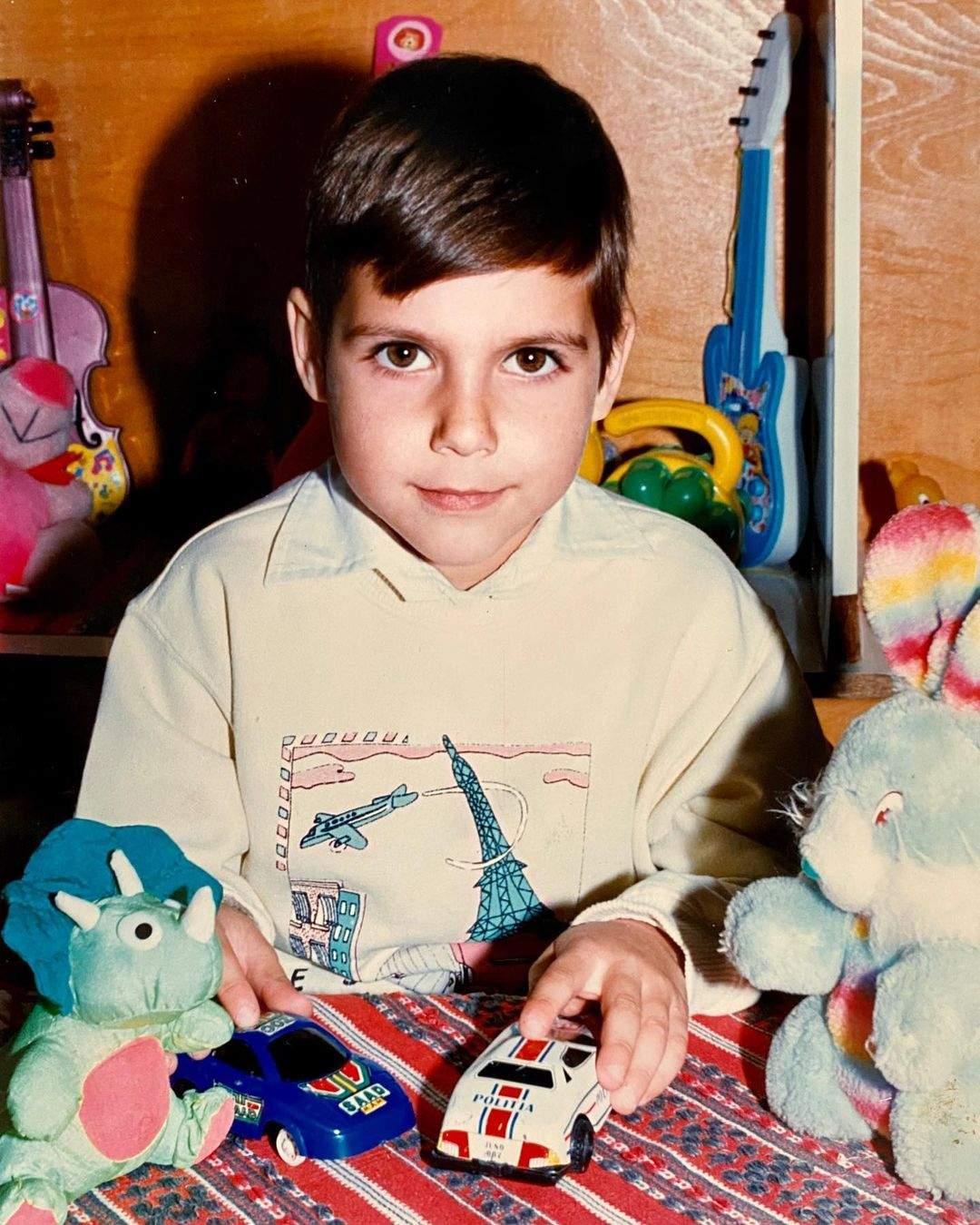 Andi Constantin când era mic.