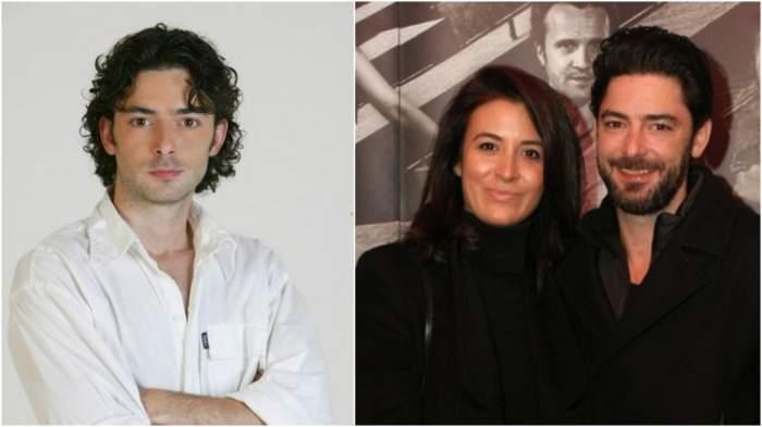 Colaj cu Dan Bordeianu în perioada în care juca în telenovele/ Dan Bordeianu alături de soția sa, la un eveniment monden.