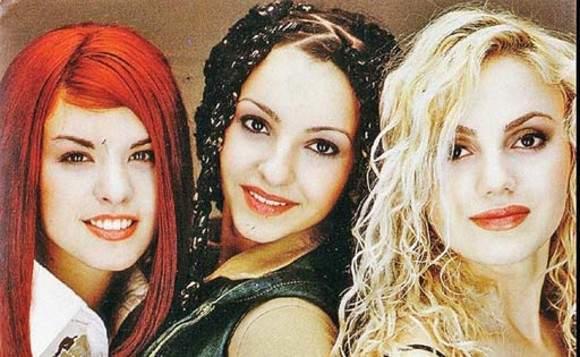 """Giulia Anghelescu, Selena și Monica Andrei, în perioada """"Candy""""."""