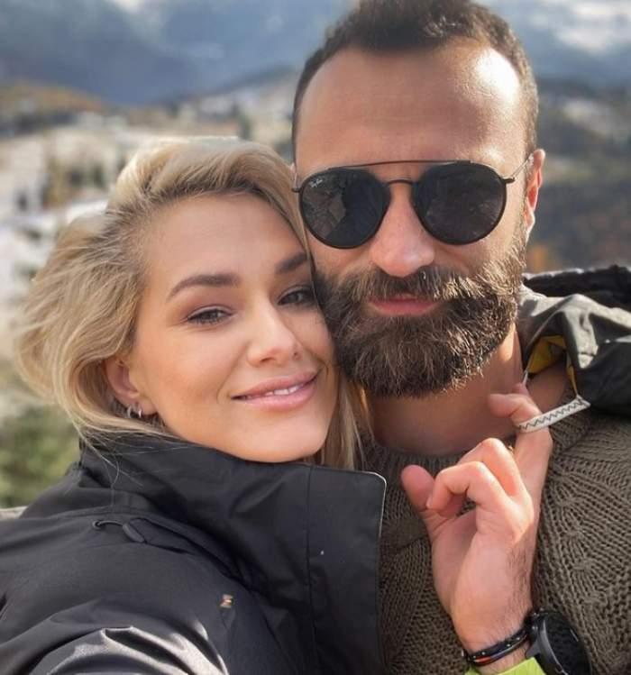 Feli Donose și iubitul ei la munte