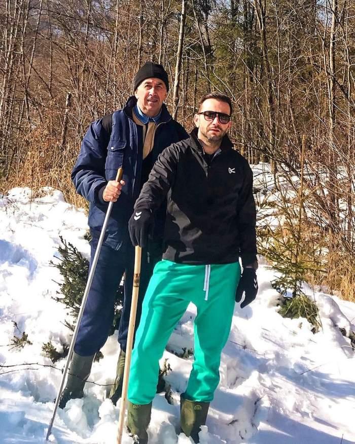 Mihai Morar, în Maramureș, alături de tatăl său