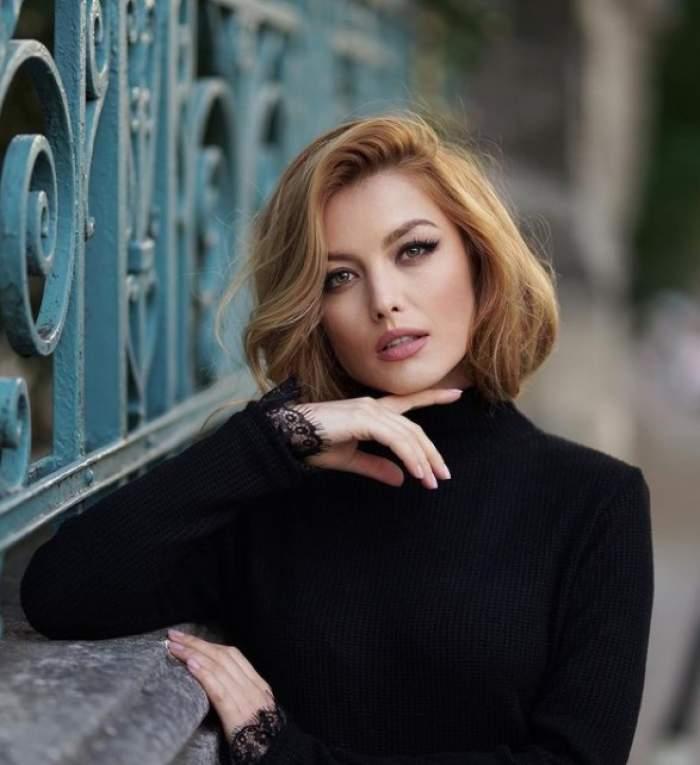 Elena Gheorghe în negru