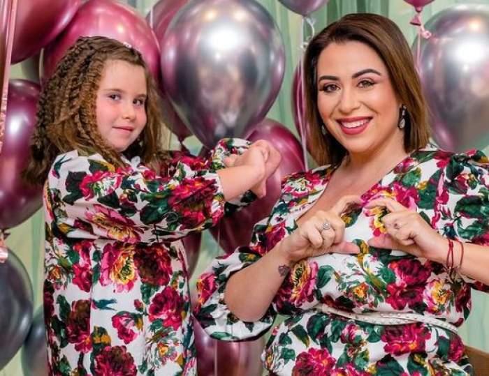 Oana Roman și Isabela, în rochițe înflorate, ședință foto.