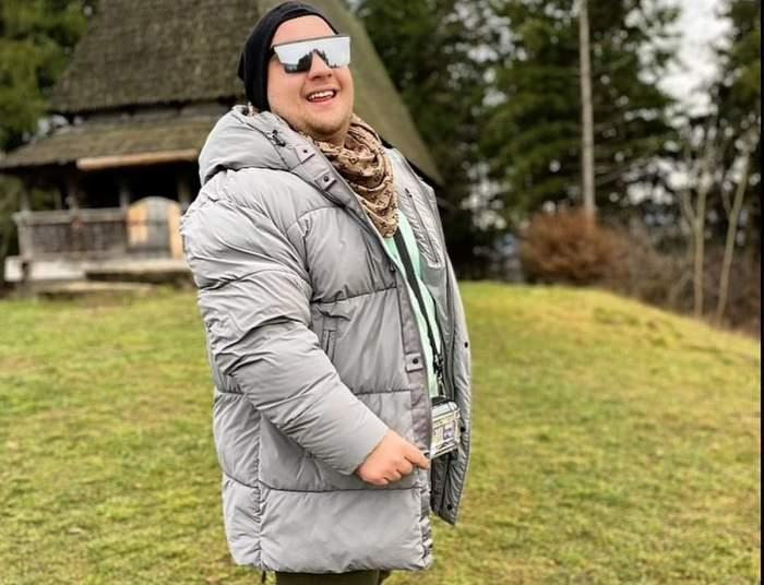 Răzvan Babană cu geaca groasa la munte