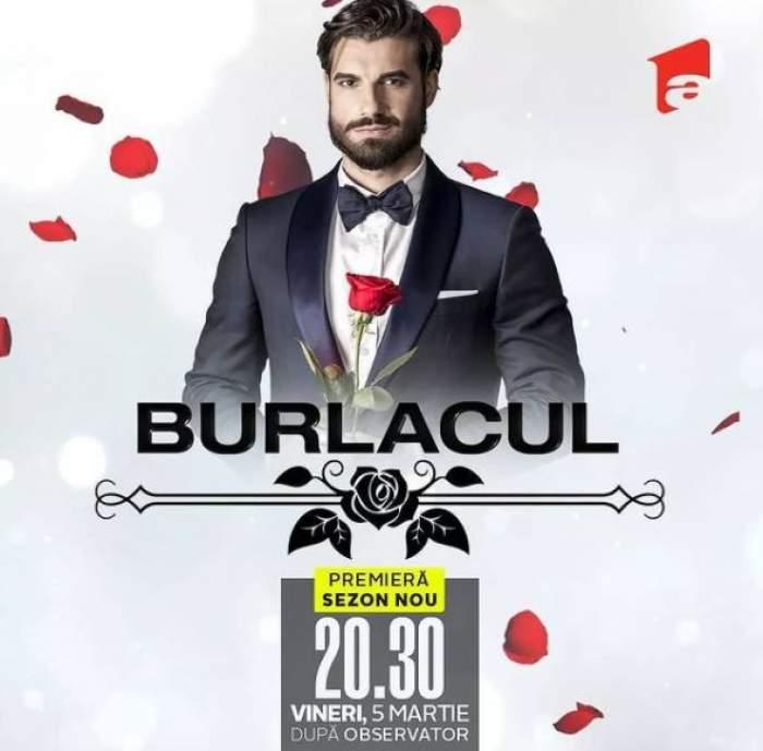 Imagine cu anunțul oficial făcut de Antena 1 referitor la noul sezon din Burlacul.