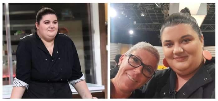 Un colaj cu Claudia Radu și Cristina Raiu. În prima poză Claudia se află la Chefi la cuțite și poartă uniformă neagră de bucătar, iar în a doua ambele își fac un selfie și zâmbesc.