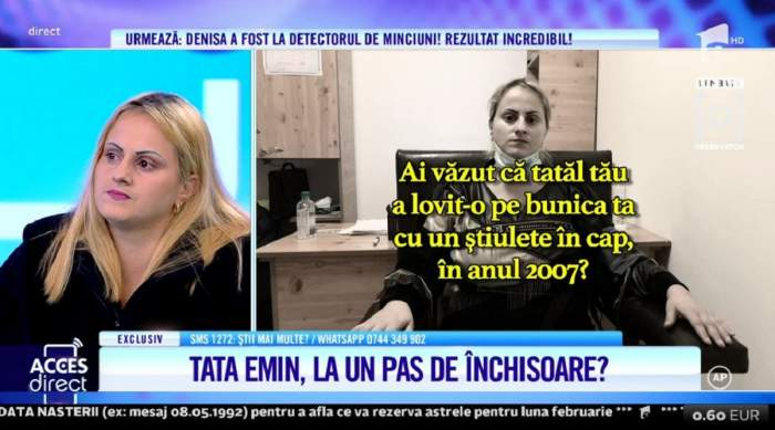 Acces Direct. Denisa, cea care și-a acuzat tatăl că i-ar fi ucis bunica, a mințit! Ce arată testul poligraf / VIDEO