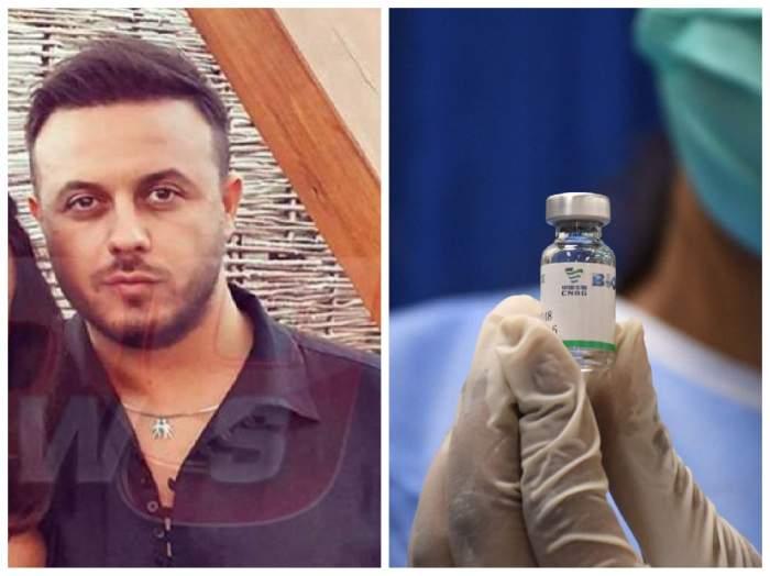 Gabi Bădălău și o doză de vaccin