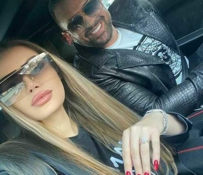 Alex Bodi și Daria, cu ochelari de soare la ochi, în mașină.