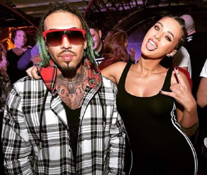 Antonia și Alex Velea, fotografiați împreună, îmbrăcați la cool,la o petrecere