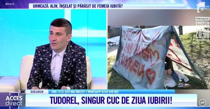 """Acces Direct. Tudorel, sacrificiu suprem în numele iubirii! S-a mutat într-un cort de când soția a plecat cu copilul de acasă: """"Eu chiar țin la tine"""" / VIDEO"""