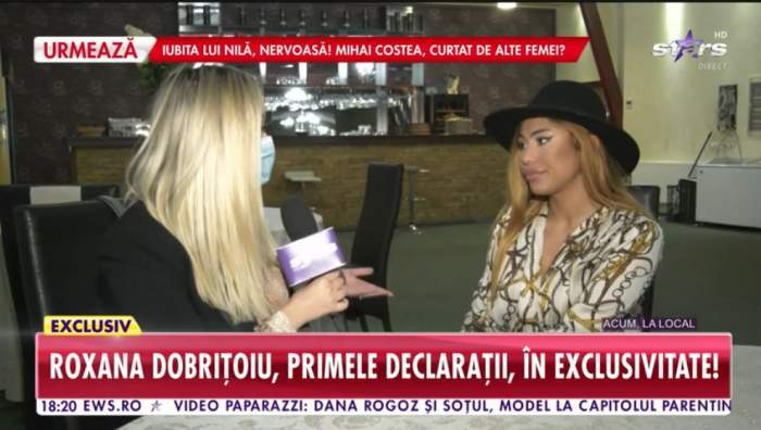 Roxana Dobritoiu vorbeste in direct cu un reporter Antena stars despre bataia cu Denisa Despa