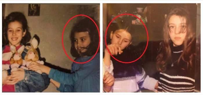 Un colaj cu Daniela Crudu și sora ei, Ana. Imaginile au fost realizate când erau mici.