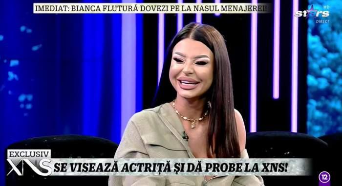 Ana Mocanu vrea să devină actriță! Fosta asistentă a dat test în direct la Xtra Night Show / VIDEO