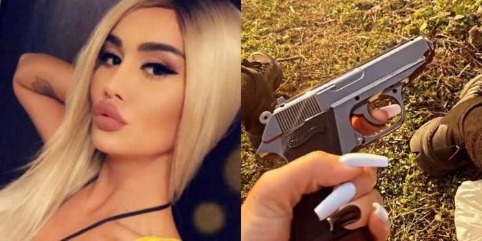 margherita de la clejani cu pistol in mana
