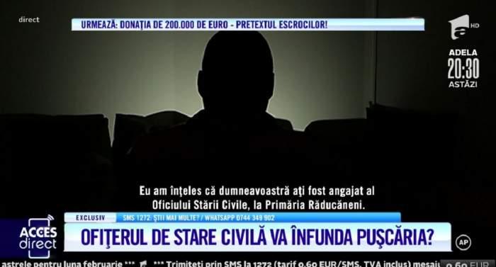 """Acces Direct. Reacția Ofițerului Stării Civile de la Răducăneni care ar fi intermediat divorțul dintre Adrian și soție: """"Eu am încercat să ajut familia"""" / VIDEO"""