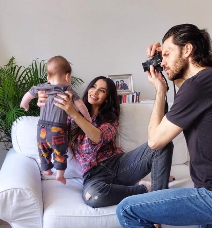 Lili Sandu alături de soț și copil