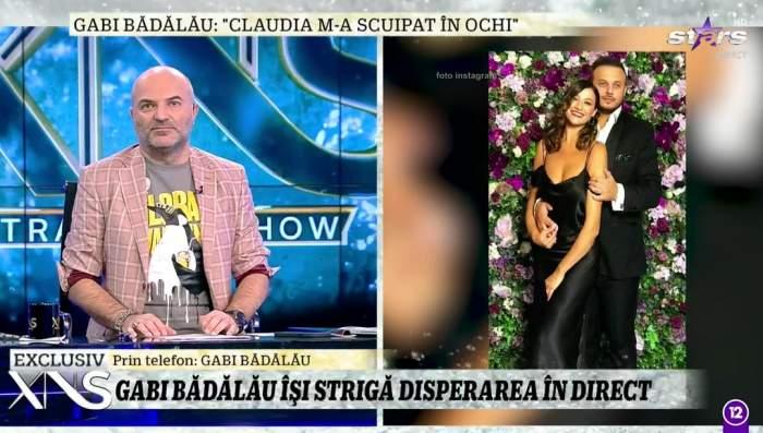 Gabi Bădălău, scuipat de Claudia Pătrășcanu atunci când a vrut să-și ia copiii! Prima reacție a acestuia, la Xtra Night Show / VIDEO