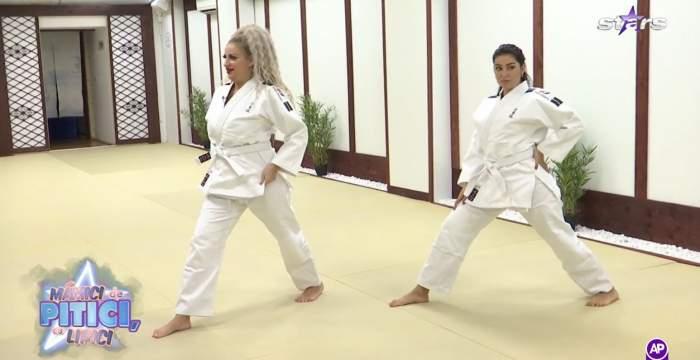 Sânziana Buruiană și Elena Ionescu, introduse în lumea artelor marțiale! Cele două dive s-au transformat în războinice, la Antena Stars / VIDEO