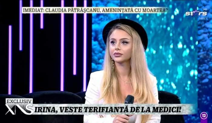 ispita irina in platou la xtra night show
