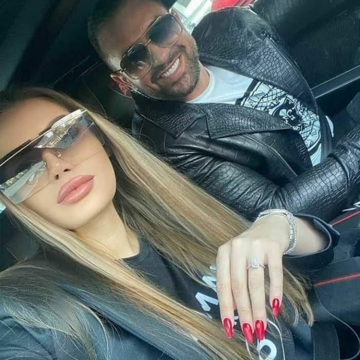 Daria Radionova și Alex Bodi, selfie în mașină.