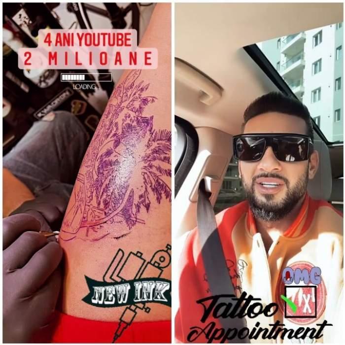 Noul tatuaj al lui Dorian Popa