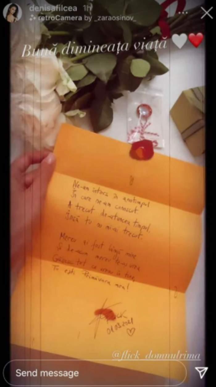poezia scrisa de flick pentru denisa filcea de martisor