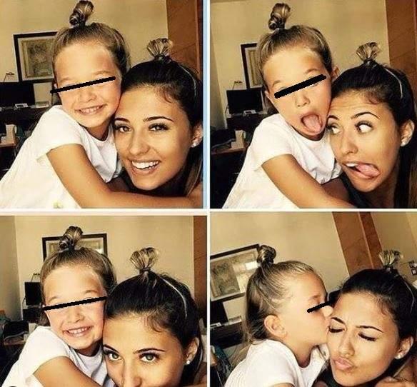 Anotnia alături de fiica sa.