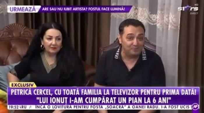 Petrică Cercel și soția sa, îmbrăcați în negru, la Antena Stars