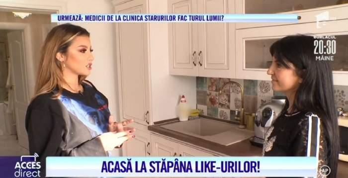 """Acces Direct. """"Stăpâna like-urilor"""", vilă de lux cu pereți aurii. Denise se laudă cu un dressing plin cu haine de firmă! / VIDEO"""