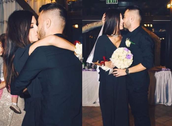 Ana și Mădălin de la MPFM se saruta dupa cererea in casatorie care a avut loc la o nunta