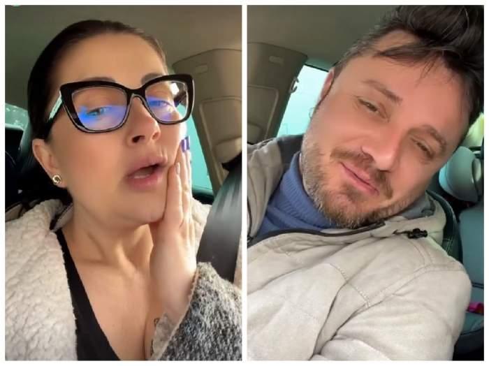 Gabriela Cristea și Tavi Clonda în mașină