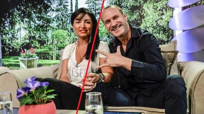 Alin Oprea și Larisa într-o emisiune, în perioada în care formau un cuplu.