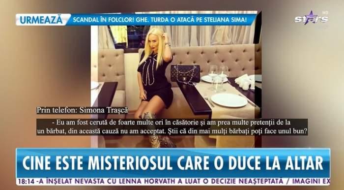 Simona Trasca vorbeste intr-un interviu telefonic la Antena Stars despre nunta pe care o va face la toamna