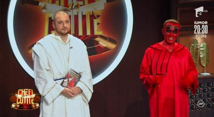 Andrei Ciobanu si Ionut Rusu s=au costumat in Dumnezeu si Satana la Chefi la cutite