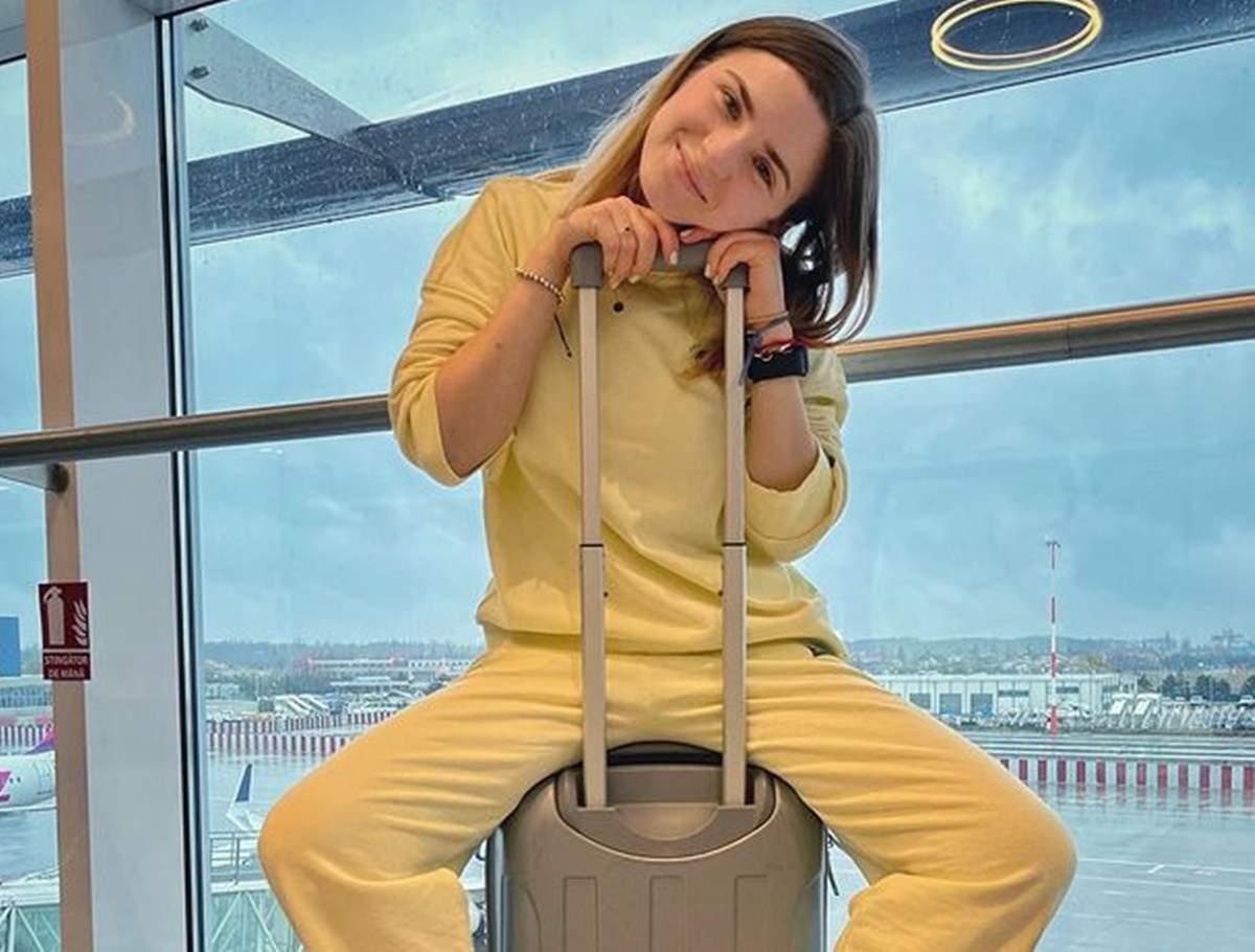 cristina ciobanasu in aeroport