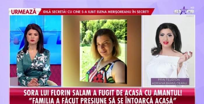 Adriana Bahmuțeanu oferă un interviu pentru Antena Stars.