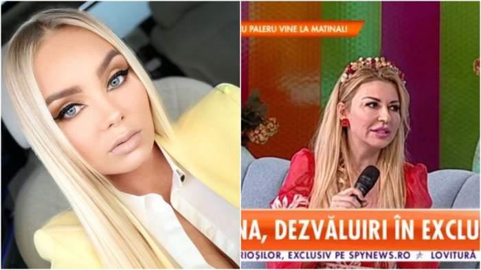 Colaj cu Maria Constantin în mașină/ Lorenna în platoul unei emisiuni TV.